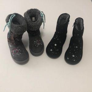 2 pairs boots ( Skechers & Oshkosh )